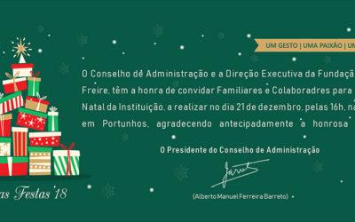 Convite Festa de Natal 2018